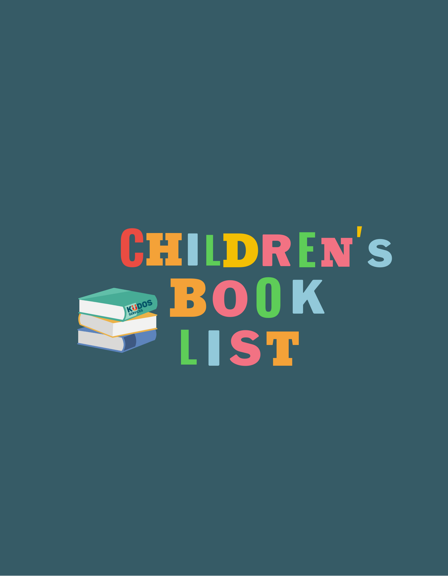 Children's Book List with tips for parents and caregivers